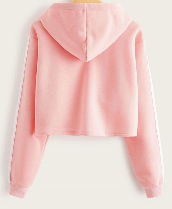 Pink Crop top hoodie